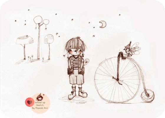 wheel up sketch by majeak ann mark2