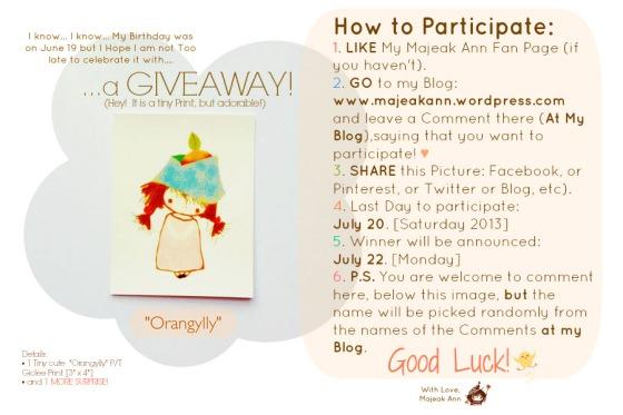 BD Giveaway II by Majeak Ann