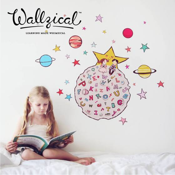 Moonscape Wall Decal Girl