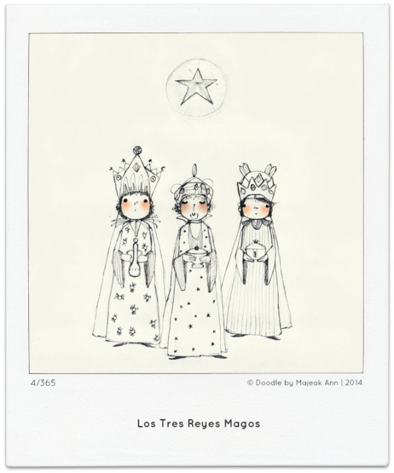 4-365  Tres Reyes doodle by Majeak Ann