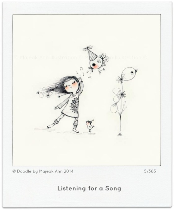 Listening for a song Bambina by Majeak Ann